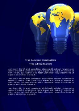 World Energy Word Template, Cover Page, 04237, Nature & Environment — PoweredTemplate.com