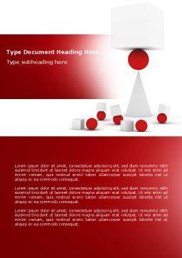 Instability Word Template, Cover Page, 04241, Consulting — PoweredTemplate.com