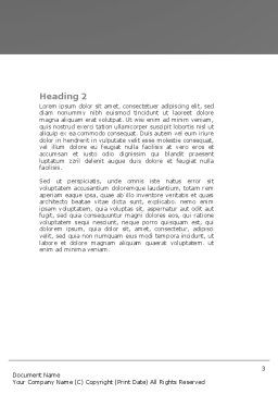 Cubic Structure Word Template, Second Inner Page, 04243, Construction — PoweredTemplate.com