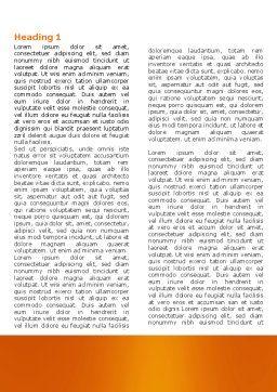 Mechanics Word Template, First Inner Page, 04244, Utilities/Industrial — PoweredTemplate.com