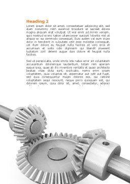 Mechanics Word Template, Second Inner Page, 04244, Utilities/Industrial — PoweredTemplate.com