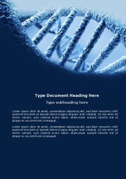DNA Molecular Structure Word Template, Cover Page, 04245, Medical — PoweredTemplate.com