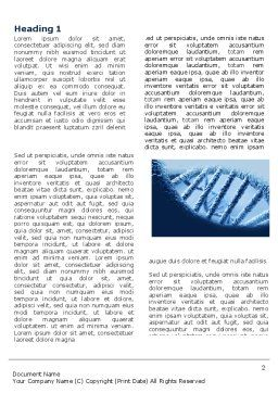 DNA Molecular Structure Word Template, First Inner Page, 04245, Medical — PoweredTemplate.com