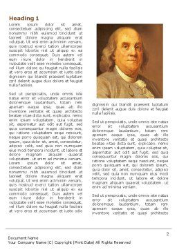 Benjamin Franklin Word Template, First Inner Page, 04247, Education & Training — PoweredTemplate.com