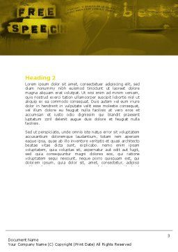 Human Rights Word Template Second Inner Page