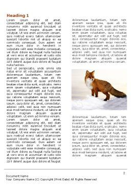Red Fox Word Template First Inner Page