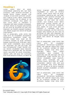Euro vs. Dollar Word Template, First Inner Page, 04268, Financial/Accounting — PoweredTemplate.com