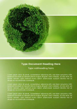 Green Land Word Template, Cover Page, 04269, Global — PoweredTemplate.com