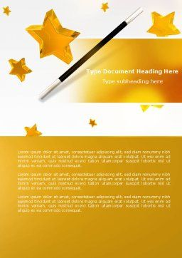 Magic Wand And Magician's Hat Word Template, Cover Page, 04270, Holiday/Special Occasion — PoweredTemplate.com