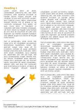 Magic Wand And Magician's Hat Word Template, First Inner Page, 04270, Holiday/Special Occasion — PoweredTemplate.com