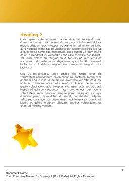 Magic Wand And Magician's Hat Word Template, Second Inner Page, 04270, Holiday/Special Occasion — PoweredTemplate.com