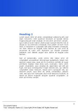 Offshore Development Word Template, Second Inner Page, 04271, Consulting — PoweredTemplate.com