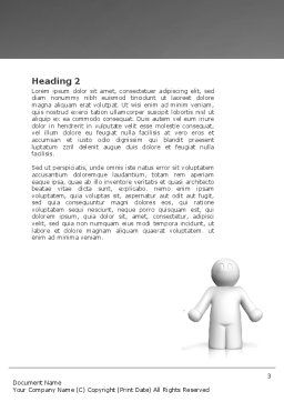 Dilemma Word Template, Second Inner Page, 04272, Education & Training — PoweredTemplate.com