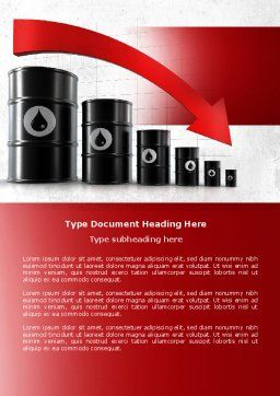 Oil Production Decrease Word Template, Cover Page, 04274, Careers/Industry — PoweredTemplate.com