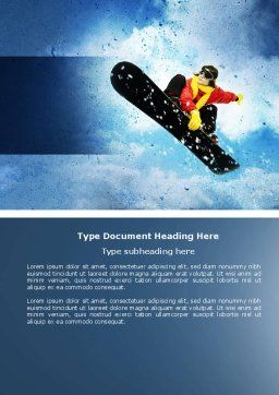 Snowboard Word Template, Cover Page, 04275, Sports — PoweredTemplate.com