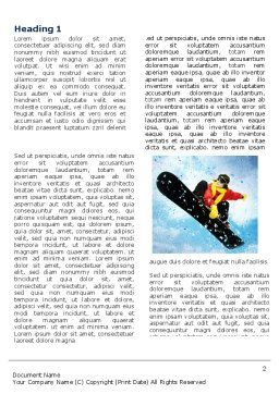 Snowboard Word Template, First Inner Page, 04275, Sports — PoweredTemplate.com