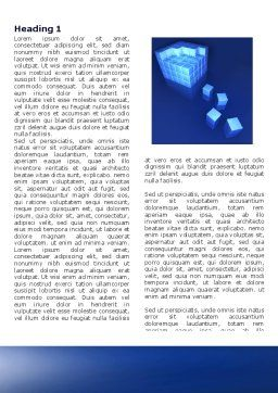 Business Model Word Template, First Inner Page, 04278, 3D — PoweredTemplate.com