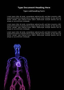 Cardiovascular System Word Template, Cover Page, 04281, Medical — PoweredTemplate.com