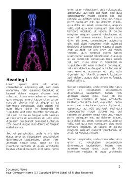 Cardiovascular System Word Template, First Inner Page, 04281, Medical — PoweredTemplate.com