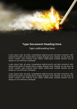 Firestarter Word Template, Cover Page, 04284, Business Concepts — PoweredTemplate.com