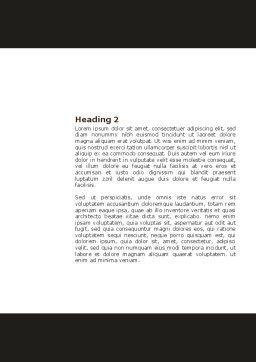 Firestarter Word Template, Second Inner Page, 04284, Business Concepts — PoweredTemplate.com