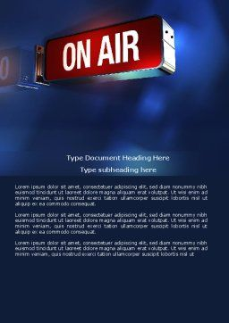 Live Broadcast Word Template, Cover Page, 04285, Careers/Industry — PoweredTemplate.com