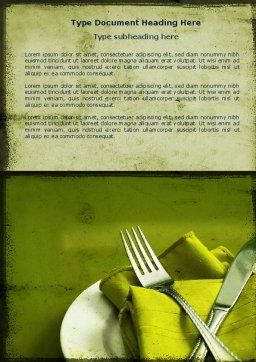 Flatware Word Template, Cover Page, 04286, Careers/Industry — PoweredTemplate.com