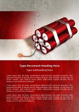 Dynamite Word Template, Cover Page, 04287, Military — PoweredTemplate.com