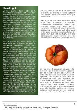 Genetically Modified Foods Word Template First Inner Page