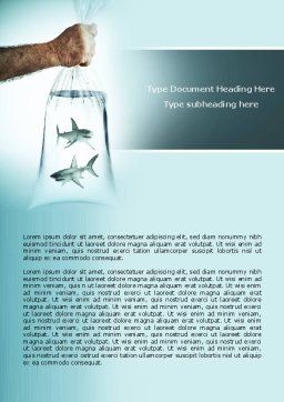 Free Sharks Word Template, Cover Page, 04291, Business Concepts — PoweredTemplate.com