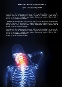 Neck Pain Word Template, Cover Page, 04292, Medical — PoweredTemplate.com