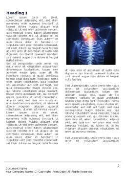 Neck Pain Word Template, First Inner Page, 04292, Medical — PoweredTemplate.com