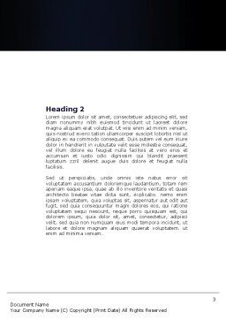 Neck Pain Word Template, Second Inner Page, 04292, Medical — PoweredTemplate.com