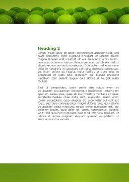 Tennis Balls Word Template, Second Inner Page, 04296, Sports — PoweredTemplate.com
