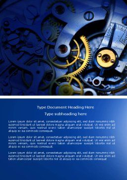 Precision Clockwork Word Template, Cover Page, 04297, Construction — PoweredTemplate.com
