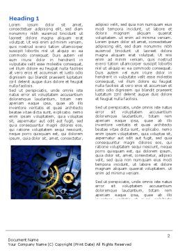 Precision Clockwork Word Template, First Inner Page, 04297, Construction — PoweredTemplate.com