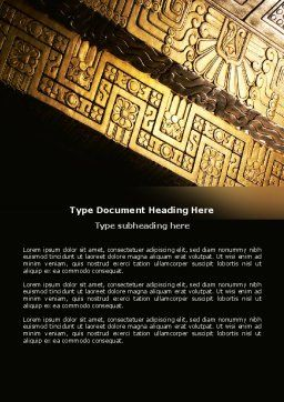 Indigenous Culture Word Template Cover Page