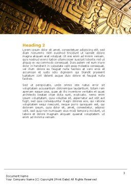 Indigenous Culture Word Template Second Inner Page