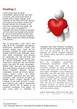 True Love Word Template, First Inner Page, 04299, Holiday/Special Occasion — PoweredTemplate.com