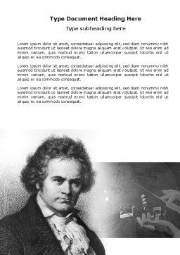 Beethoven Word Template Cover Page