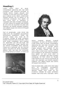 Beethoven Word Template First Inner Page
