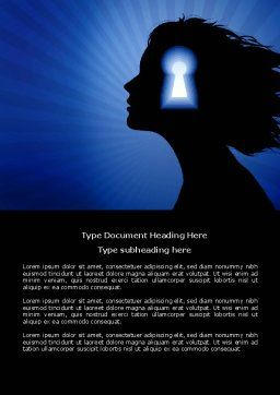 Female Mind Word Template, Cover Page, 04302, Consulting — PoweredTemplate.com
