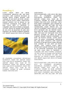 Sweden Word Template First Inner Page