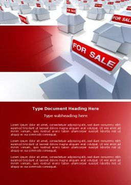 Real Estate In Massive Sale Word Template, Cover Page, 04307, Construction — PoweredTemplate.com