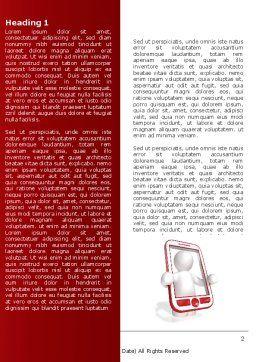 Wireless Phones Word Template, First Inner Page, 04312, Telecommunication — PoweredTemplate.com
