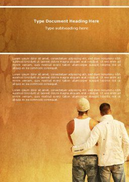 Homosexual Relationships Word Template, Cover Page, 04313, People — PoweredTemplate.com