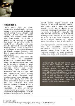Gambler Word Template, First Inner Page, 04317, Sports — PoweredTemplate.com