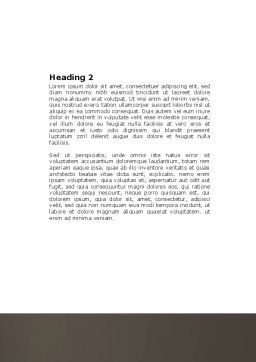 Gambler Word Template, Second Inner Page, 04317, Sports — PoweredTemplate.com