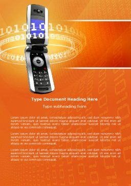 Mobile Service Provider Word Template, Cover Page, 04320, Telecommunication — PoweredTemplate.com