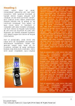 Mobile Service Provider Word Template, First Inner Page, 04320, Telecommunication — PoweredTemplate.com